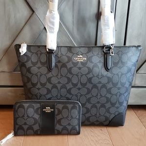 Coach tote and wallet bundle